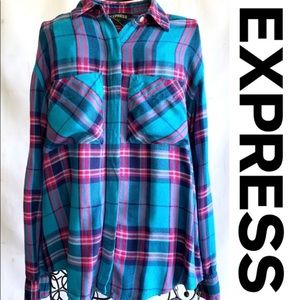 LIKE NEW! Plaid Button Down Shirt by Express